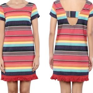 UNCLE FRANK Weekend Stripe Dress Red/Yellow Size S